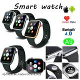 心拍数のモニタA9が付いている美しいギフトのBluetoothのスマートな腕時計