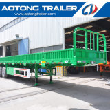 De 3 essieux de bétail de cargaison remorque semi avec la frontière de sécurité détachable