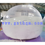 White Outdoor Camping Bubble with Rooms / Transparent Inflatable Clear Bubble Tent