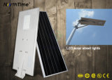 Réverbères économiseurs d'énergie du panneau solaire DEL de détecteur de mouvement de PIR