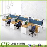 L прокатанный меламином перегородка офиса формы модульная с рассекателем уединения
