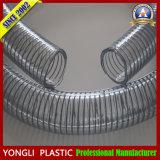 Boyau de fil d'acier de PVC de Tranparent