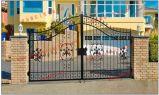 5400*2400 mm galvanizado revestido de Pó de Aço grossista Residencial Gate House Main Gate com designs de abridor de Injeção Eletrônica