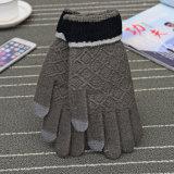 도매 싼 최신 니트 장갑, 접촉 스크린 장갑, 겨울 동안 그랜트 권투 장갑