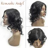 80% 흑인 여성 검정을%s 처리되지 않은 인도 머리 가발 긴 바디 파 자연적인 파