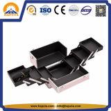 Cas en aluminium de vanité de beauté de vente chaude pour le renivellement (HB-2026)
