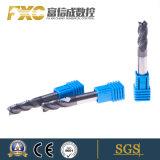 Cortador quadrado do moinho de extremidade da flauta HRC45 4 micro com Roughing