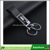 Venda direta Keychain de couro Handmade da fábrica barata