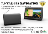 """7.0 """" ordinateur de poche en voiture de tableau de bord Navigation GPS avec 6.0 WINCE, Cortex A7, Bluetooth mains libres, AV-in de caméra de la vue arrière, 8 Go, Navigator G-7015"""
