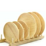 Plato de madera pulido redondo de madera