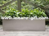 Brushed FinishのFo9016 Stainless Steel Rectangular Flower Pot