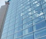 ガラス及びアルミニウムパネル式カーテンウォール