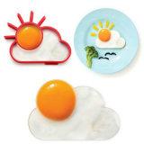 ТеплостойкNp смешные прессформы яичницы силикона формы Sunnyside завтрака