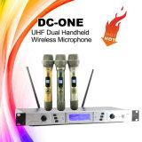Микрофон UHF DJ славного звука dC-Одн двойной Handheld бесшнуровой