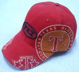 Moda roja gorra de béisbol con un gran Logo Bb1024