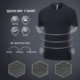Le volume fonctionnant bon marché des T-shirts d'hommes de couleur de la bruyère des hommes d'approvisionnement d'usine de Guangzhou
