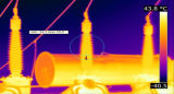 温度の検出PTZの赤外線画像のカメラ