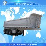 판매를 위한 트레일러를 기울이는 3개의 차축 끝 덤프 트럭 트레일러