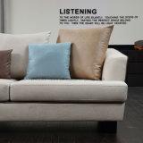Diseño simple de la esquina de color beige Sofá tela Muebles para Salón