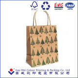 2016 OEM het Winkelen van Kerstmis van de Douane de Gift Afgedrukte Zak van het Document, de Zak van het Document van Kraftpapier