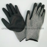 Анти--Отрежьте 5 перчаток работы безопасности PU покрынных ладонью