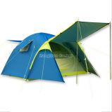 Draußen blaues Einzelzimmerzelt, doppelte Schicht 4 Jahreszeit-Zelt