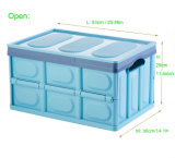La caja de plástico plegable portátil para transporte y almacenamiento