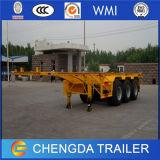2 de Aanhangwagen van het Skelet van assen voor Vervoer van de Container van 20ft