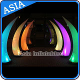 Decoração de cone de iluminação inflável LED comercial