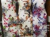 El rayón viscosa de la moda de las flores de tela impresión dígito