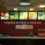 Boîte lumineuse pour la publicité alimentaire en acrylique pour aliments rapides