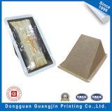 Caixa de embalagem do tipo sanduíche alimentar personalizados com Wondow (GJ-box998)