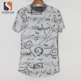 Vente chaude marquée T-shirt rond de Hemline de palangre de rayonne de la qualité des hommes de Streetwear de mode pour Amazone