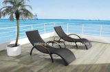 Alumínio Frame + Teak Arm Lounge / Cheap Beach Chaise Lounge por atacado (YTF393)