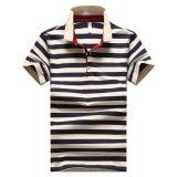 남자를 위한 도매 고품질 면 줄무늬 폴로 셔츠