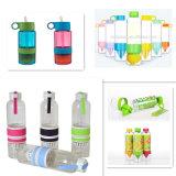 600-750мл пластмассовые или стеклянную бутылку воды с лимоном