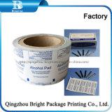 El papel de aluminio de papel para embalaje de algodón impregnado en alcohol
