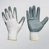 gants enduits de nitriles gris de couleur du polyester 13G
