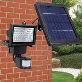 3W 60Светодиодный прожектор с датчиком движения Солнечной Светодиодный прожектор