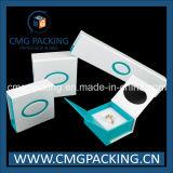 Tipos da caixa de jóia com inserção e ímã