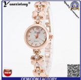 Yxl-804 2016 Senhoras Relógios Pulseira face longa cadeia de flores de Relógio Bracelete assistir