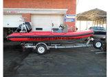 Bateau de pêche gonflable rigide de la Chine Aqualand 19feet 5.8m/bateau de vitesse (rib580t)