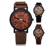 Simulation Yxl-856 hölzerne Relojes Quarz-Mann-Uhr-beiläufige hölzerne Farben-lederne Brücke-Uhr-hölzerne männliche Armbanduhr Relogio Masculino