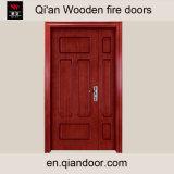 Porte d'entrée en bois à double bois en placage Sapele