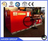 Prensa de batir de doblez de la placa mecánica hidráulica de 3 rodillos W11-10X3000
