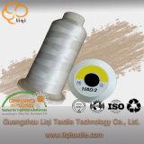 Polyester-Heizfaden-Natur-passte weißes Stickerei-Gewinde 100% die angenommene Farbe an
