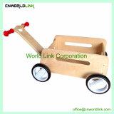 木のカートのおもちゃおかしい木手のプッシュプル子供ワゴン