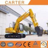 Máquina escavadora Diesel-Powered da esteira rolante resistente de Carter CT150-8c (cubeta 15t&0.55m3)