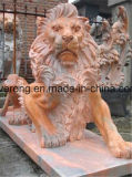 Sale에 공장 Price White Marble Carving Natural Stone Lion Sculpture