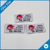 """1 """" contrassegno di marca piegato lato rosso del vestito dal contrassegno della tessile di altezza per l'abbigliamento con il simbolo del Giappone"""
